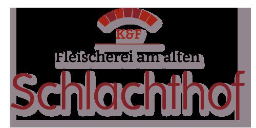 Logo der K&F Fleischerei am alten Schlachthof in Brandenburg